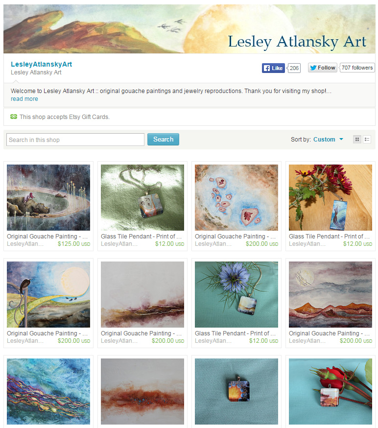 etsy home page